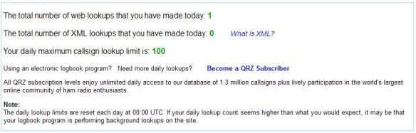 Límite de búsquedas por día